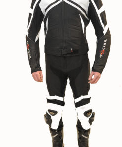 Kombinezon skórzany męski Tschul dwuczęściowy 750 black white