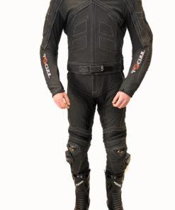 Kombinezon skórzany męski dwuczęściowy Tschul 750 black