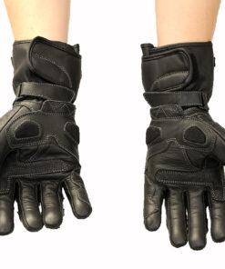 Rękawice skórzane motocyklowe Tschul model 230 kolor czarny