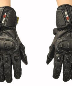 Rękawice skórzane motocyklowe Tschul model 310 kolor czarny