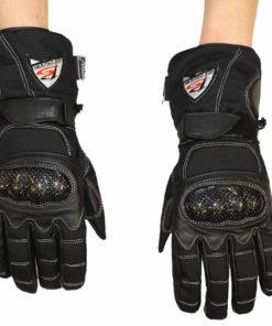 Rękawice tekstylno skórzane Prospeed model 40083 z HIPORA kolor czarne