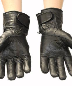 Rękawice tekstylno skórzane motocyklowe OSX model 90877 kolor czarny