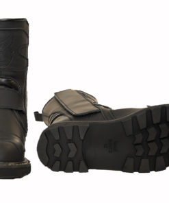 Buty skórzane motocyklowe Race Boots model Troter z membraną TE-POR kolor czarny matt