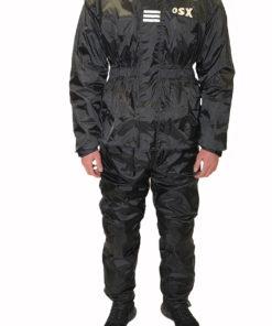 Kombinezon przeciwdeszczowy dwuczęściowy ( kurtka i spodnie ) OSX model 340F kolor czarny