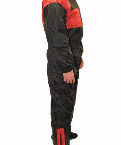 Kombinezon przeciwdeszczowy jednoczęściowy Prospeed kolor czarno czerwony