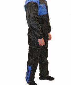 Kombinezon przeciwdeszczowy jednoczęściowy Prospeed kolor czarno niebieski
