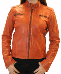 Kurtka skórzana damska B 105 Romeo Orange