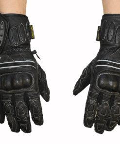 Rękawice skórzane motocyklowe OSX model 40059 kolor czarne