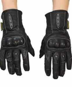 Rękawice skórzane motocyklowe OSX model 40529 kolor czarne