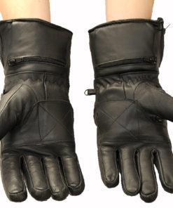 Rękawice skórzane motocyklowe OSX model 902 z pokrowcem przeciwdeszczowym kolor czarny