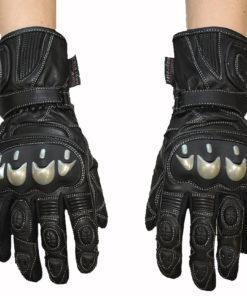 Rękawice skórzane motocyklowe OSX model L-1015 kolor czarne
