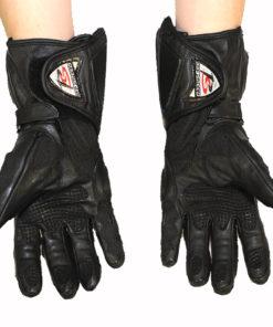 Rękawice skórzane motocyklowe Prospeed model 40064 kolor czarne