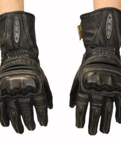 Rękawice skórzane motocyklowe damskie OSX model 925 kolor czarne